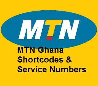 List of MTN codes and service numbers, MTN Ghana, Telephone Numbers,
